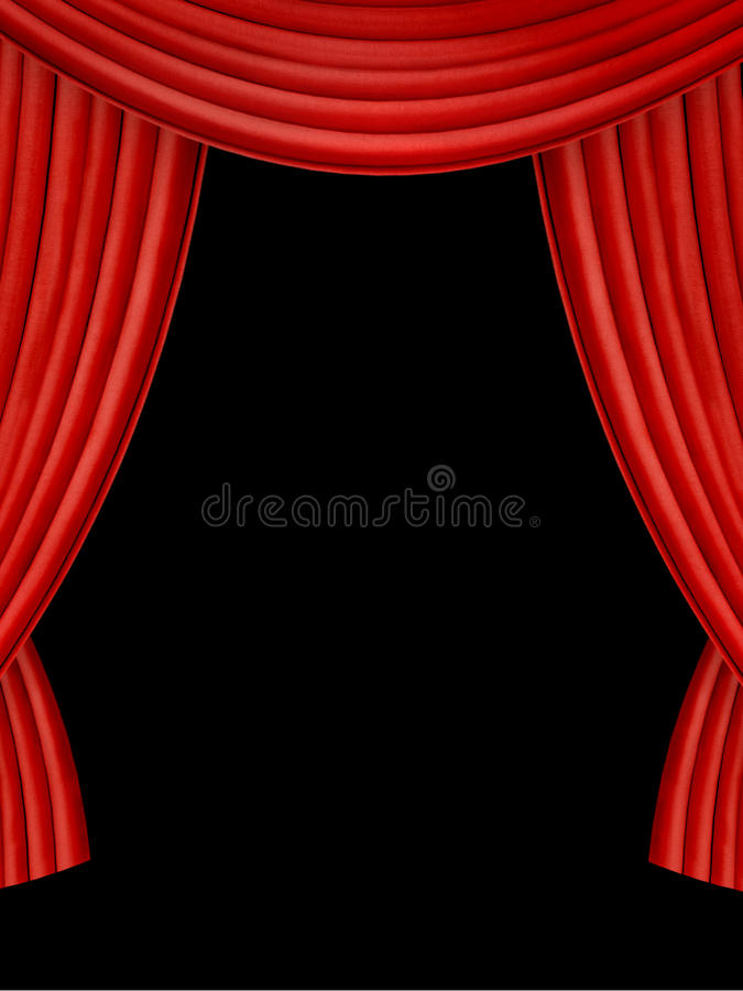 Download Red curtains stock image. Image of house, material, inside - 19439913