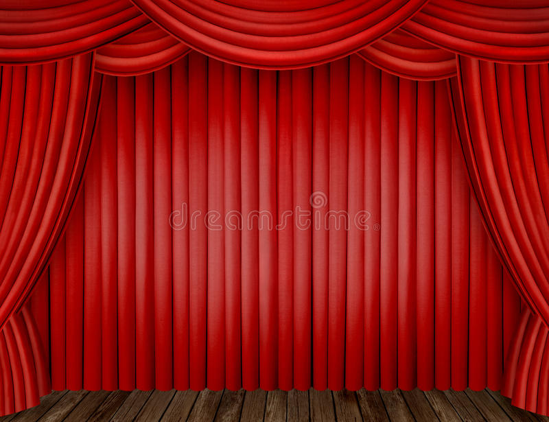 Download Red curtains stock photo. Image of decor, floor, decoration - 19479808