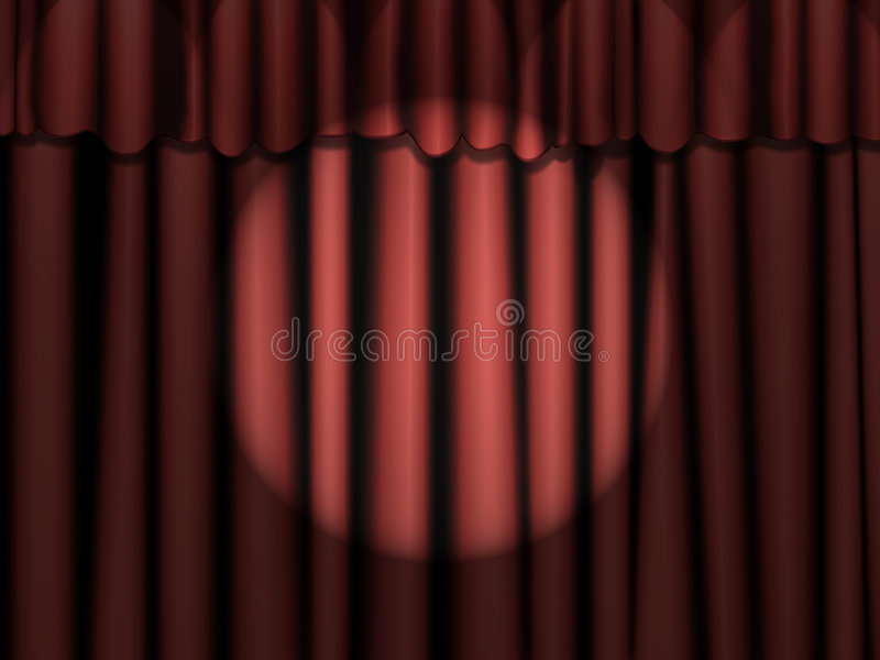 Download Red Curtains With Spotlight Stock Illustration - Image: 8649208