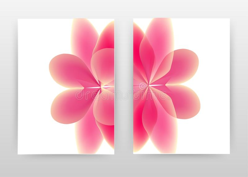 Red 3d flower petal concept. abstract design of annual report, brochure, flyer, poster. Red flower petal on white background. Vector illustration flyer, leaflet vector illustration
