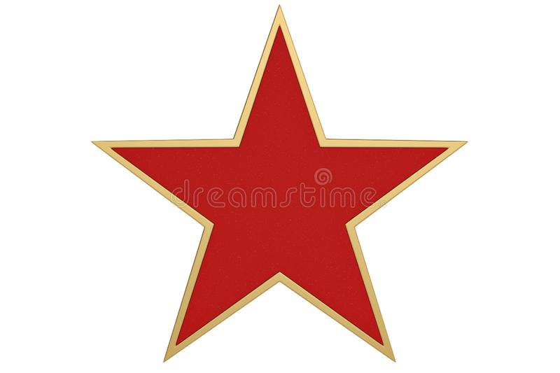 Red 3D star isolated on white background. 3D illustration.  royalty free illustration