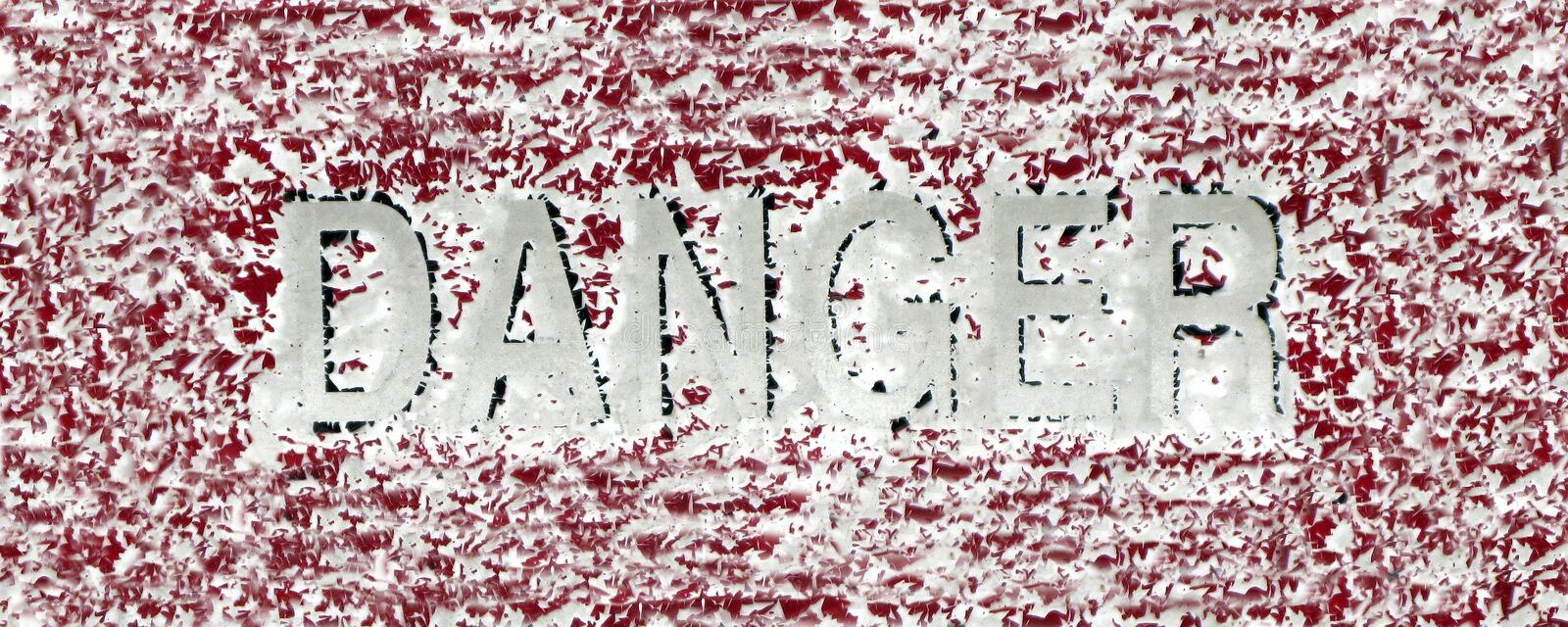 Download Red Danger Sign stock image. Image of winter, outdoors - 19443037
