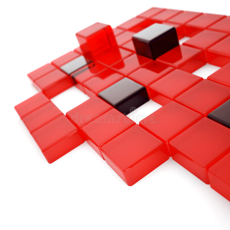 Download Red and dark glass cubes stock illustration. Illustration of form - 14144999