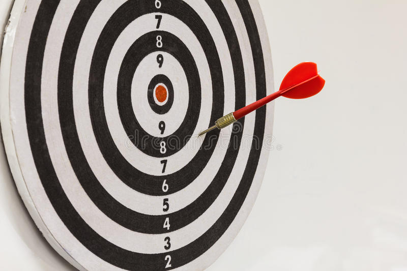 Download Red dart on dartboard stock photo. Image of performance - 27121960