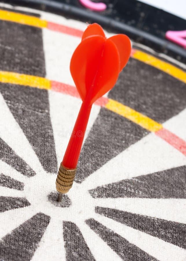 Download Red Dart Hitting The Target Stock Photo - Image: 19195556