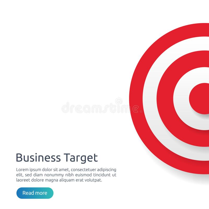 Red dartboard center goal. strategy achievement and business success flat design. Archery dart target and arrow for banner or. Background. vector concept with stock illustration