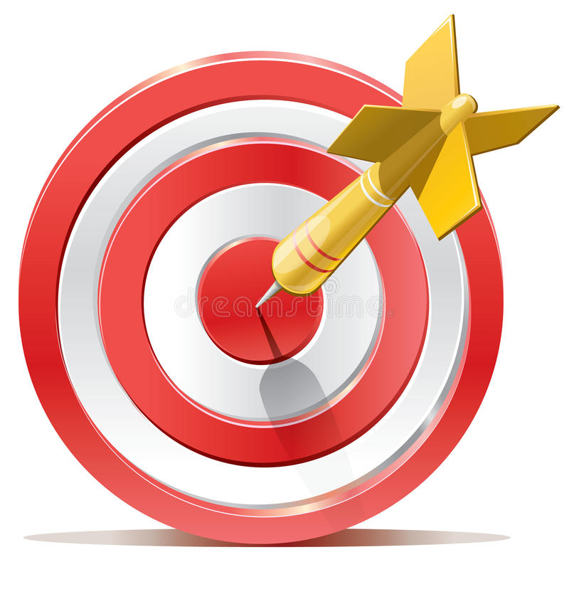 Free Red Darts Target Aim Royalty Free Stock Images - 33705309