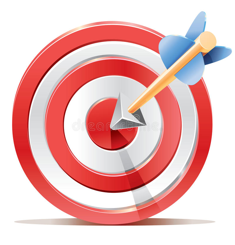 Free Red Darts Target Aim And Arrow. Stock Images - 33705314