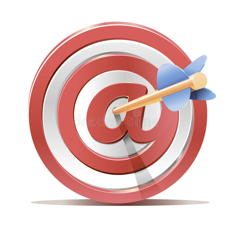 Download Red Darts Target Aim And Arrow Stock Photo - Image: 31136350