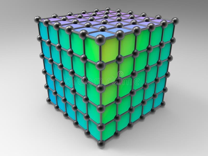 Red de átomos ilustración del vector