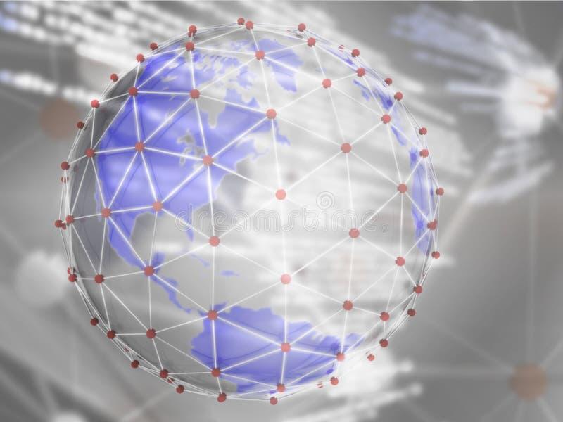Red de comunicaciones globales stock de ilustración