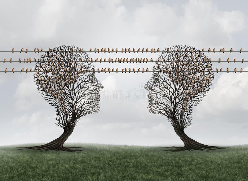 Red de comunicaciones de la conexión libre illustration
