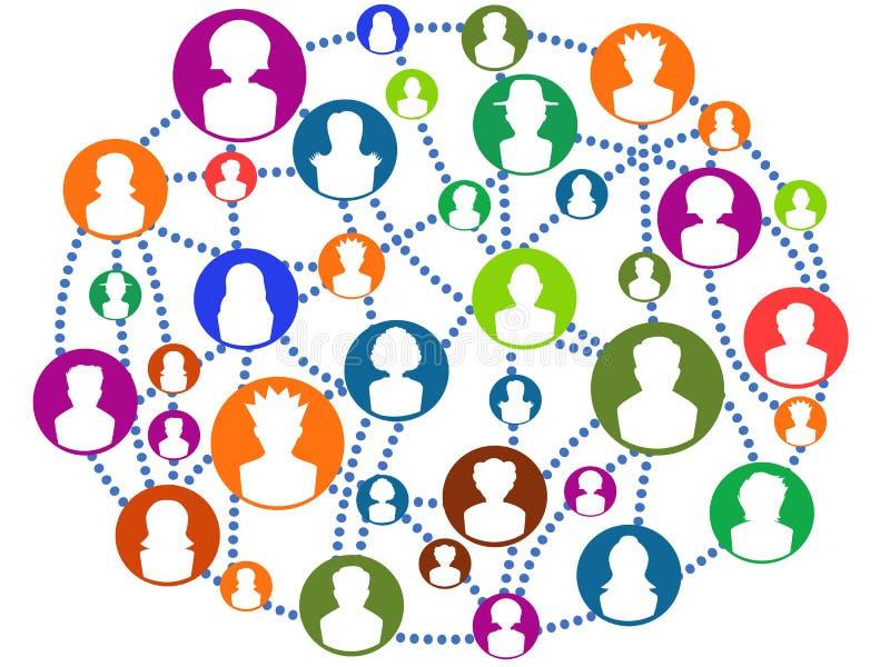 Red de conexión global de la gente libre illustration