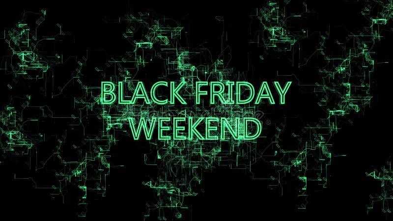 Red de Digitaces Muestra ?fin de semana de Black Friday ? fotografía de archivo libre de regalías