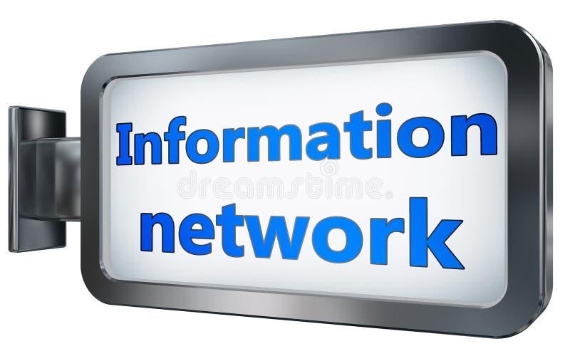 Red de información en fondo de la cartelera stock de ilustración