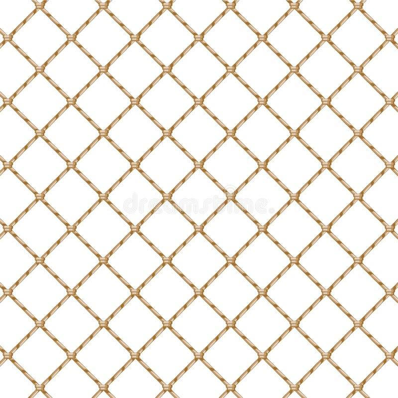 Red de la cuerda (transparente) stock de ilustración