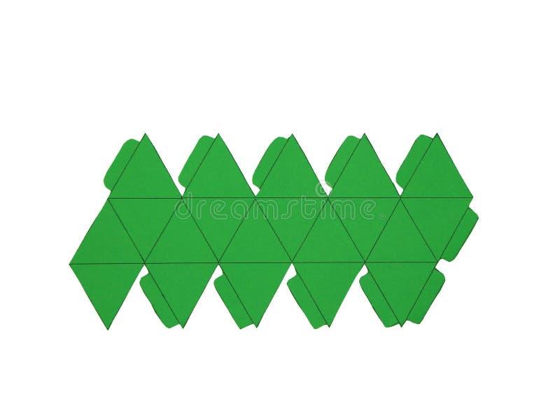 Red de la geometría del Icosahedron platónico de los sólidos forma de 2 dimensiones que se puede doblar para formar una forma de  libre illustration