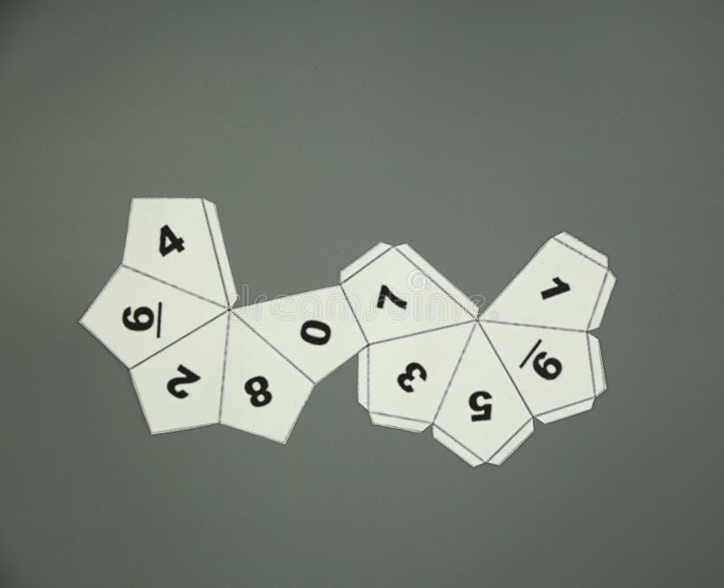Red de la geometría de los sólidos platónicos Dodecahedron forma de 2 dimensiones que se puede doblar para formar una forma de 3  stock de ilustración