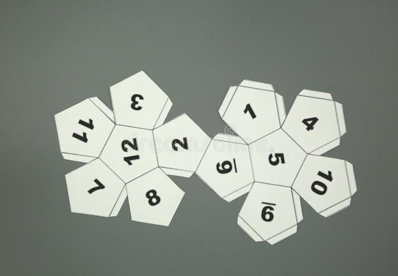 Red de la geometría de los sólidos platónicos Dodecahedron forma de 2 dimensiones que se puede doblar para formar una forma de 3  libre illustration