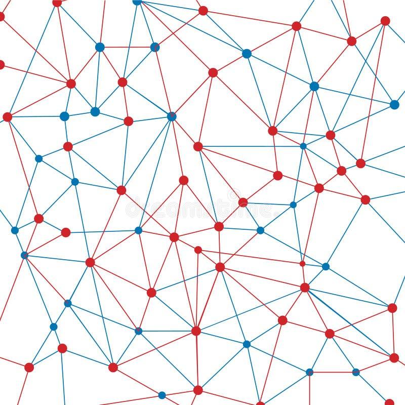 Red de la neurona fotografía de archivo