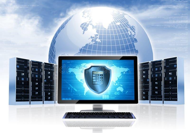 Red de la seguridad de Intenet imagenes de archivo
