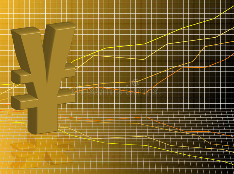 Red de los Yenes ilustración del vector