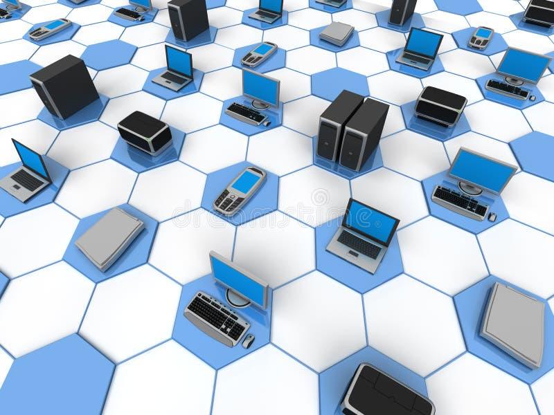Red de ordenadores libre illustration