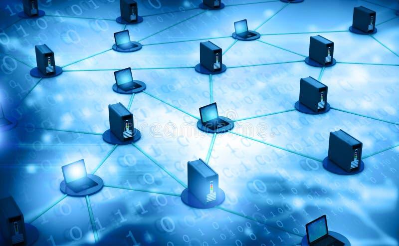 Red de ordenadores con el servidor imagen de archivo