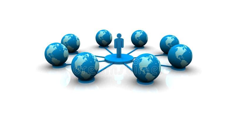 Red de ordenadores global libre illustration