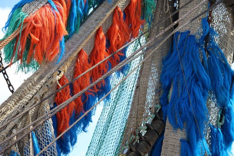 Red de pesca a bordo foto de archivo libre de regalías