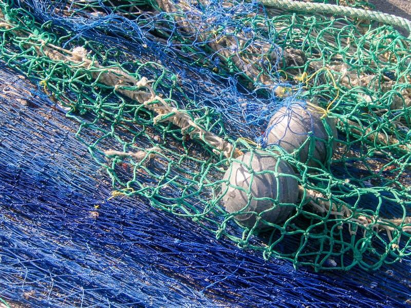 Red de pesca con las boyas flotantes fotografía de archivo libre de regalías