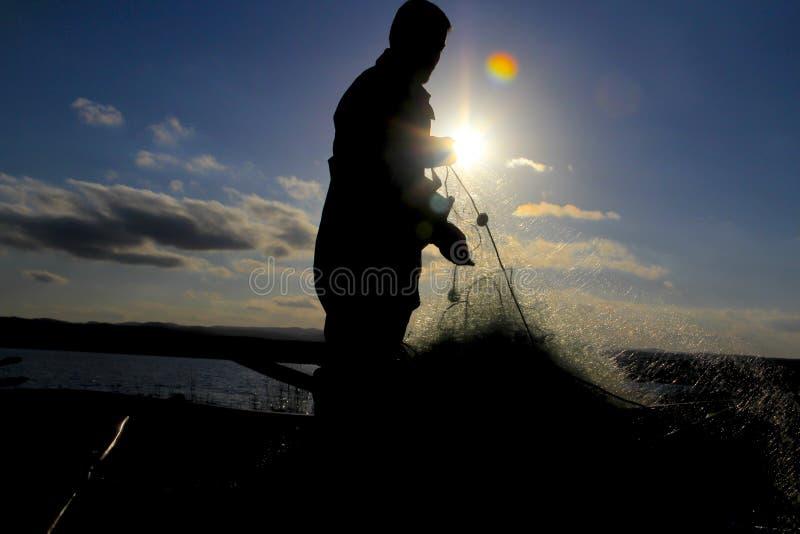 Red de pesca manufacturera fotografía de archivo libre de regalías