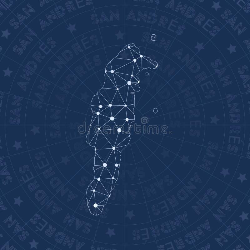 Red de San Andres, isla del estilo de la constelación libre illustration