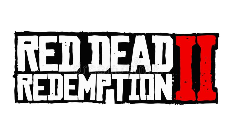 Red Dead Redemption 2 Logo Vetora ilustração stock