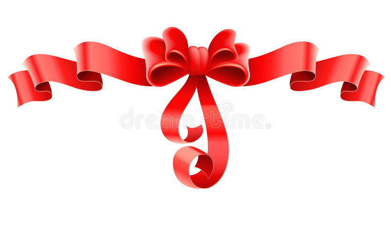 Download Red Decorative Bow With Ribbon Stock Vector - Image: 23480970