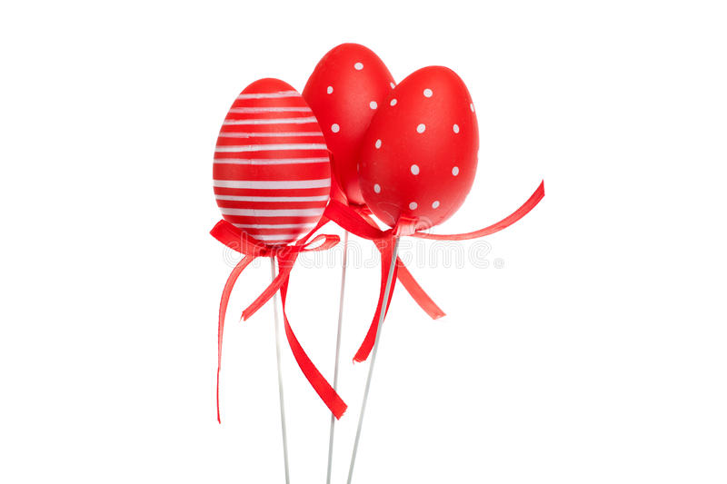 Download Red Decorative Easter Eggs With Ribbons Stock Photo - Image: 37741480