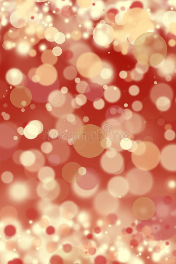 Red Defocused Christmas Lights Background Royalty Free Stock Images