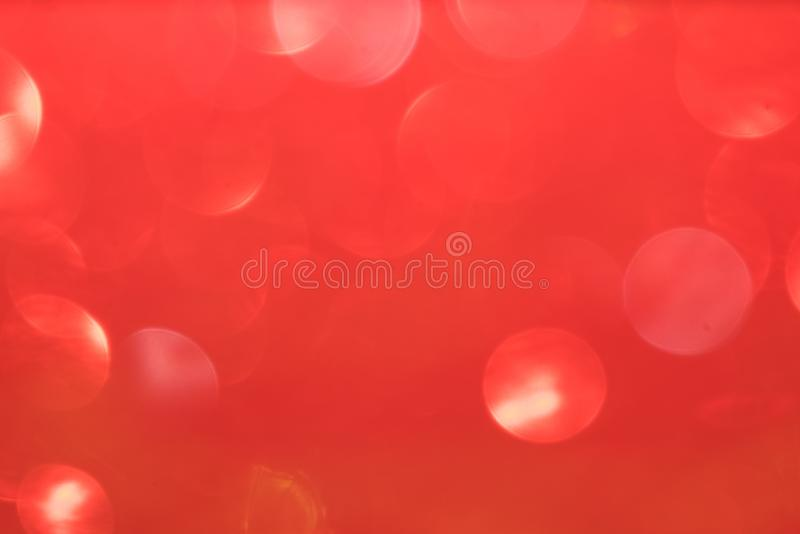 Red defocused flickering lights for text and background.  royalty free stock photography