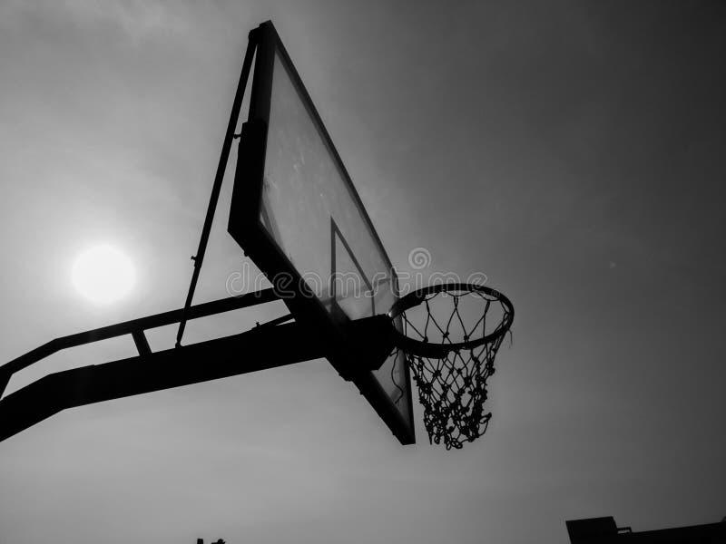 Red del baloncesto imagen de archivo libre de regalías