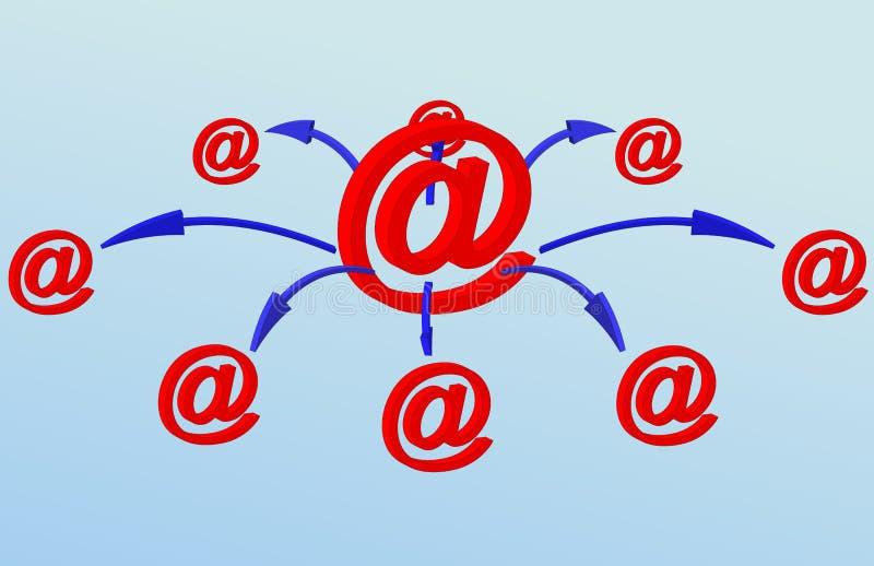 Red del email libre illustration