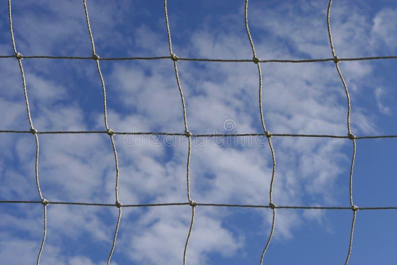 Red del fútbol imagen de archivo libre de regalías