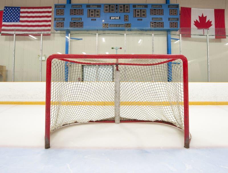 Red del hockey con el marcador foto de archivo libre de regalías