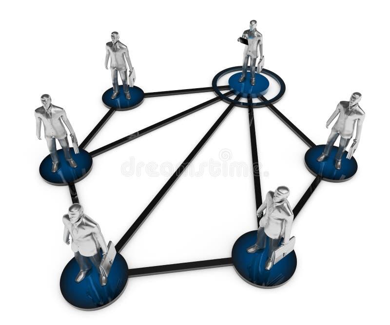 Red del negocio. Estructura corporativa. ilustración del vector
