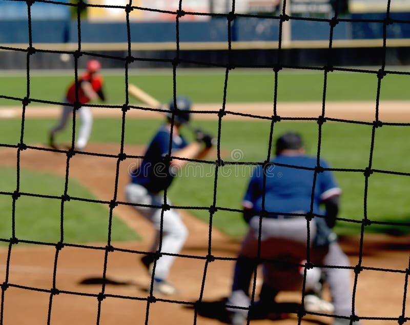 Red del tope del béisbol imagen de archivo libre de regalías