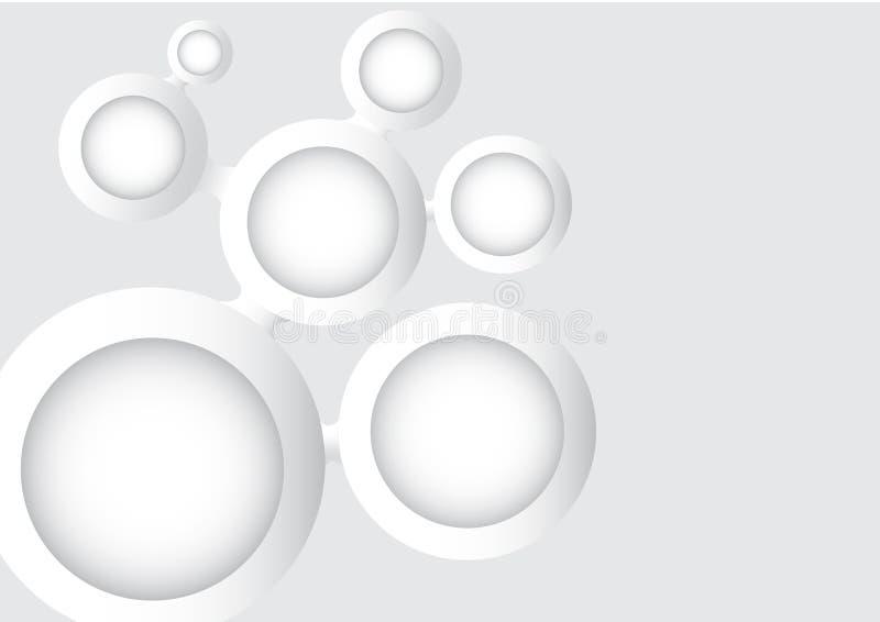 Red del trazado de mente del círculo ilustración del vector