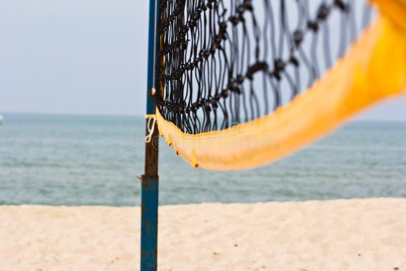 Red del voleo de la playa imagen de archivo
