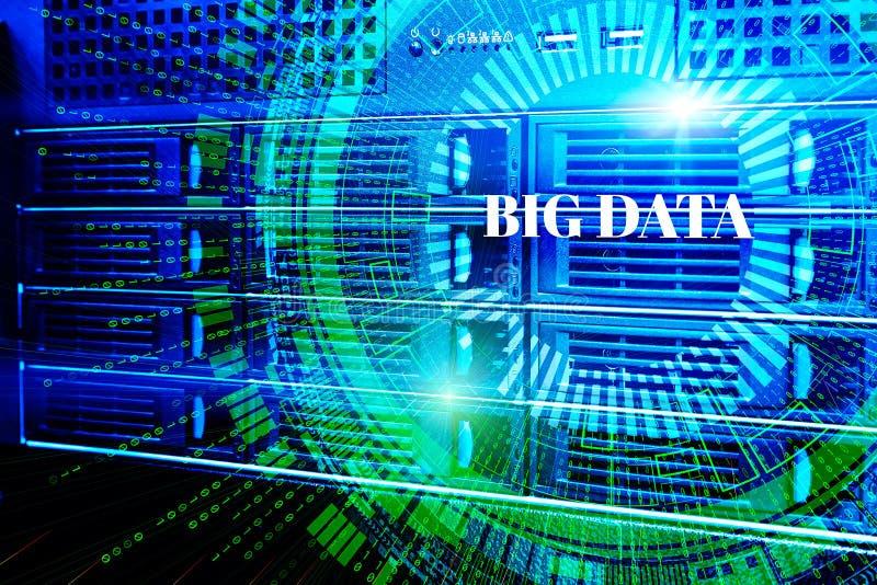 Red del web y tecnología modernas de la telecomunicación de Internet, empresa de servicios computacional del ordenador de datos d libre illustration
