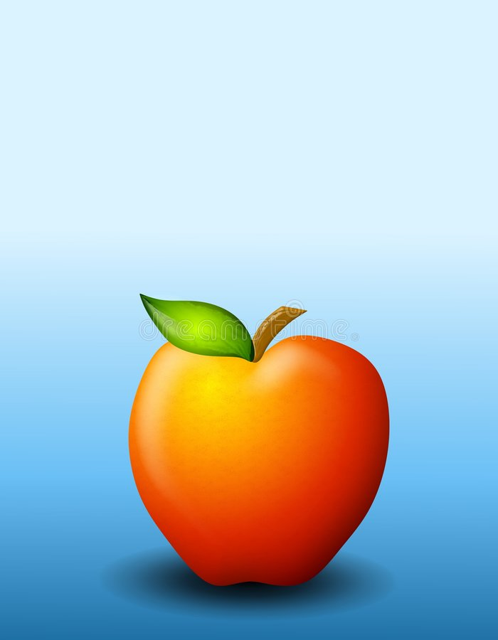 Download Red Delicious Apple Background Stock Illustration - Image: 4504480
