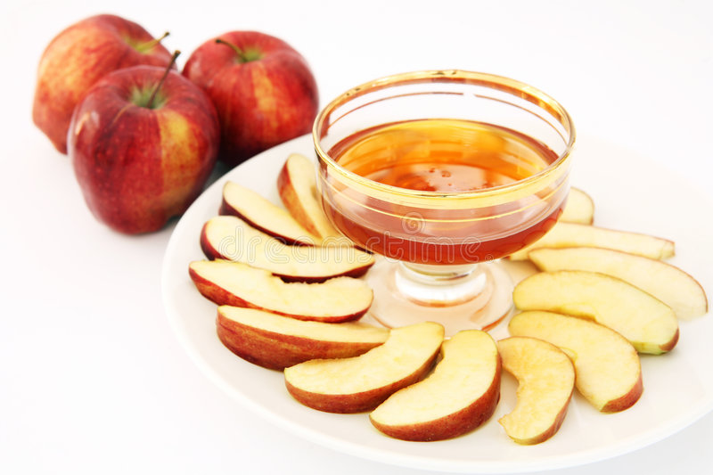 Download Red delicious and honey stock photo. Image of traditional - 2304412