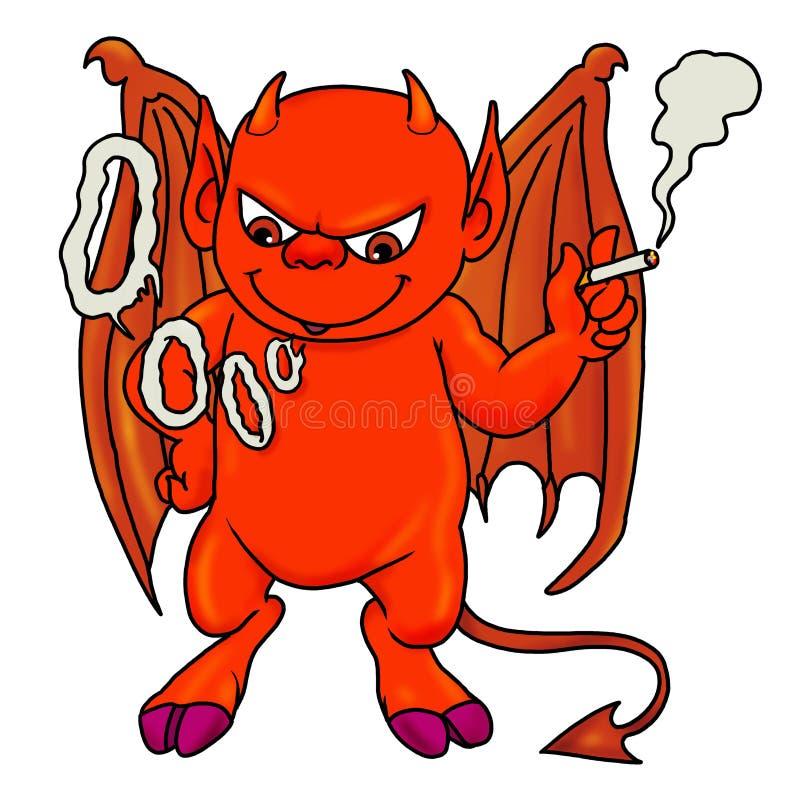 Download Red demon boy smoking stock illustration. Illustration of icon - 18268968